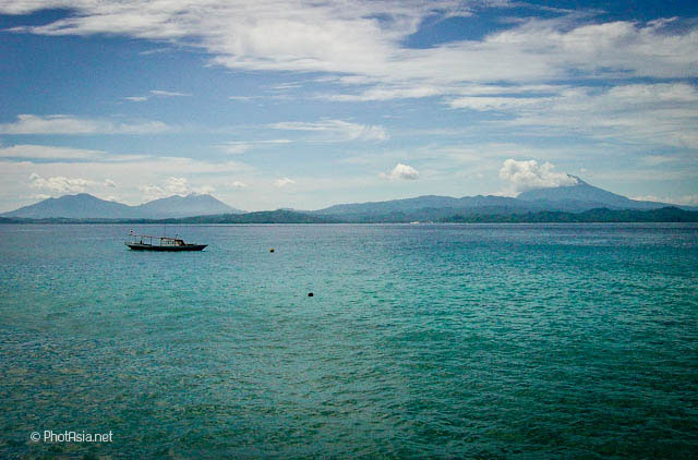 Blue waters off Siladen island, Bunaken, Sulawesi, Indonesia