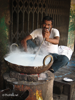 Steamin' in Orchha, India