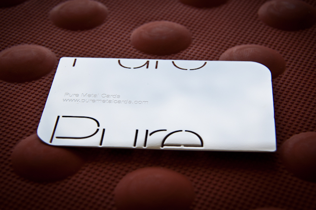 Mirror metal business card by Pure Metal Cards