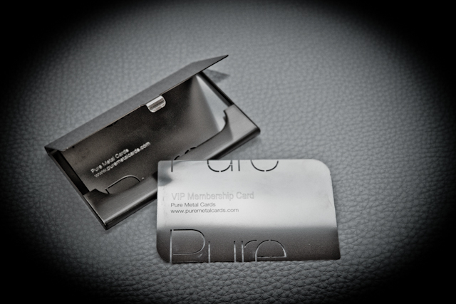 VIP Membership business card, metal business card holder by Pure Metal Cards
