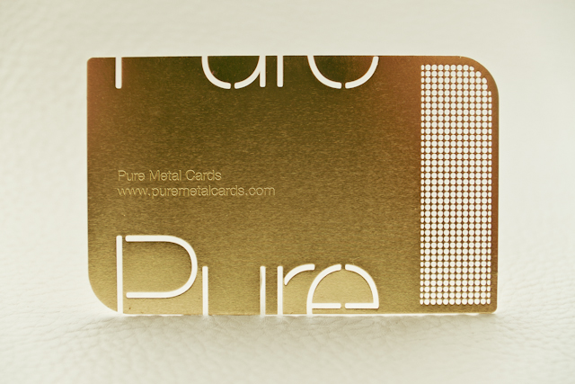 Brass (gold) metal business card by Pure Metal Cards