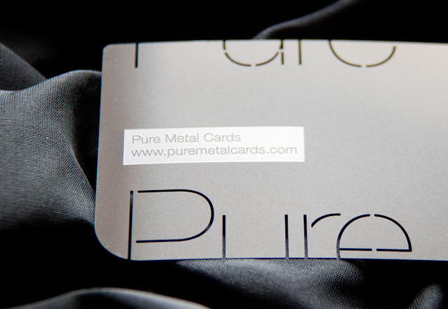 Stainless Steel metal business card by Pure Metal Cards