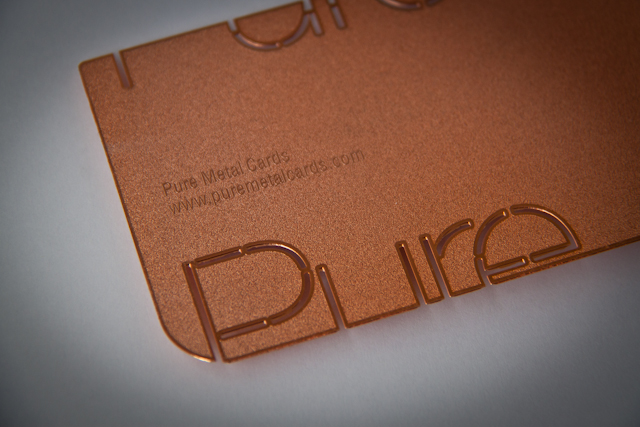 Copper metal business card by Pure Metal Cards